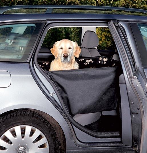 Přehoz zadních sedadel s boky Trixie 0,65x1,45m černo-béžová