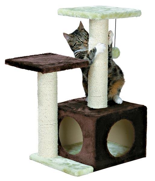 Odpočívadlo se škrabadlem pro kočky Trixie Valencia zeleno-hnědá 71cm