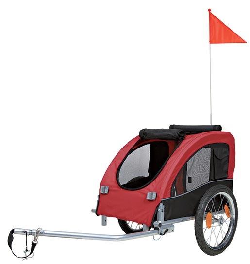 Vozík pro psy Trixie M 43x45x73cm černo-červený