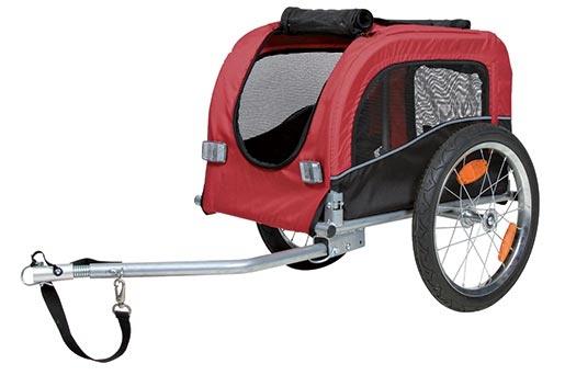 Vozík za kolo Trixie S 36 × 34 × 57 cm černo-červený