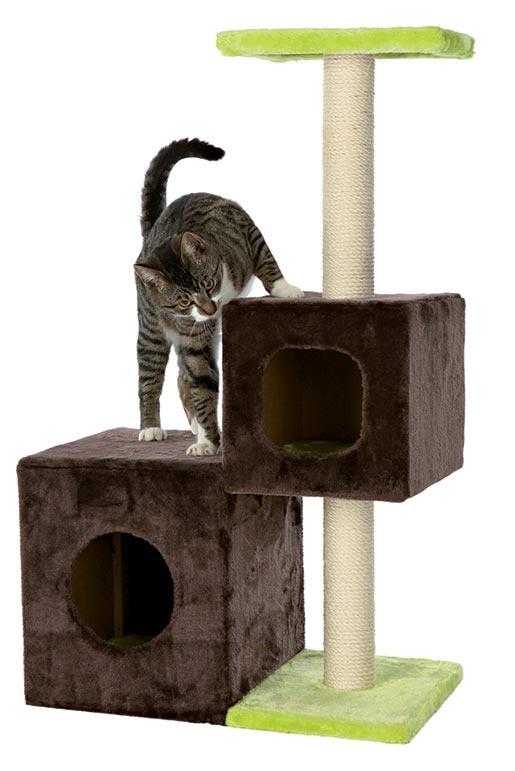 Odpočívadlo se škrabadlem pro kočky Trixie Naldo zeleno-hnědá 88cm