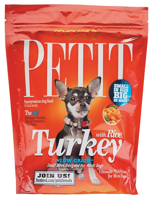 PETIT Dry Adult Turkey with Rice Low Grain 300g