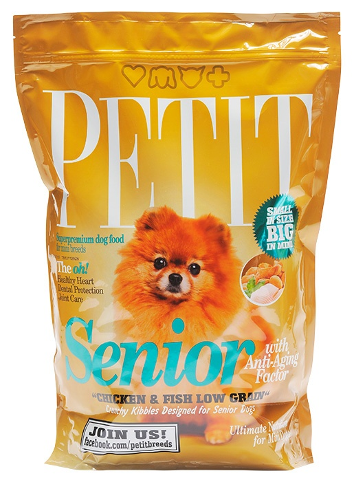 PETIT Dry Senior with Anti-Aging Factor Low Grain 1.5kg