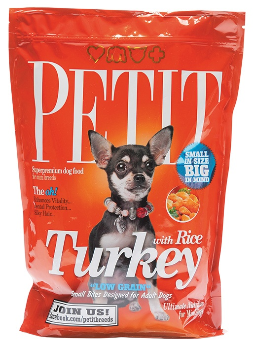PETIT Dry Adult Turkey with Rice Low Grain 1.5kg