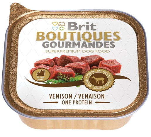 BRIT Boutiques Gourmandes Venison Small Breed One Meat 150g