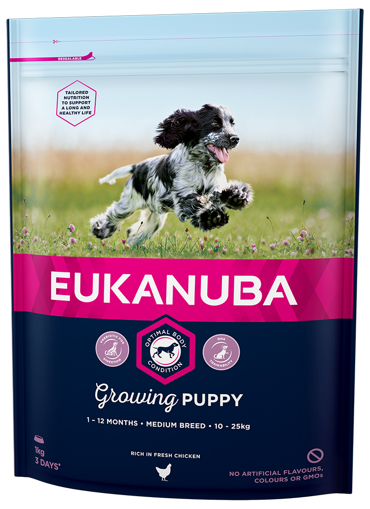 Eukanuba Puppy & Junior Medium Breed 1kg