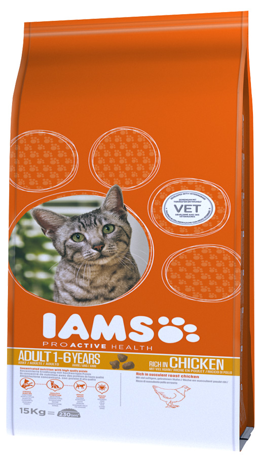 Iams Cat Adult Chicken 15kg