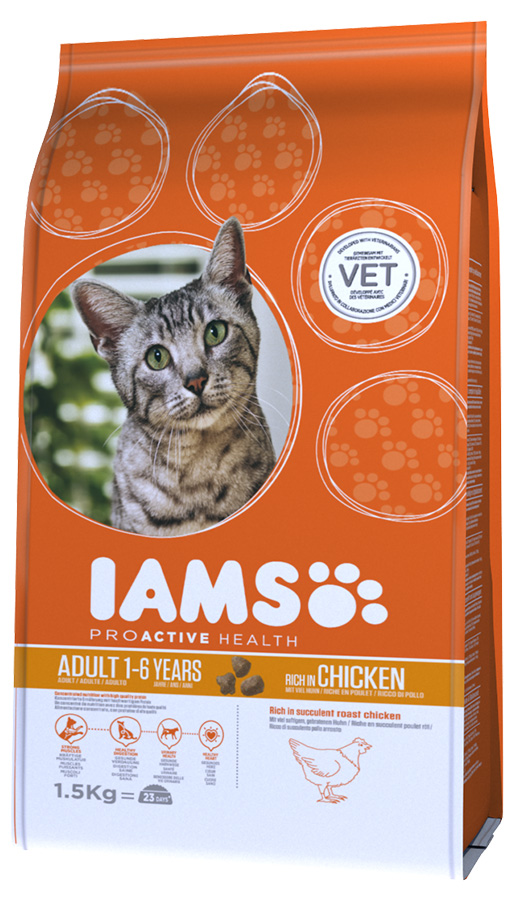 Iams Cat Adult Chicken 1,5kg
