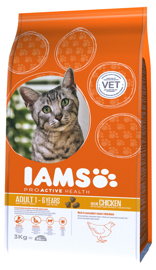 Iams Cat Adult Chicken 3kg