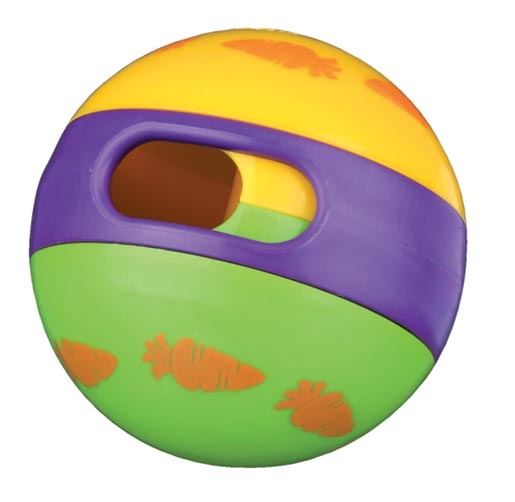 Hračka pro hlodavce Trixie míč s otvorem na krmení 6cm