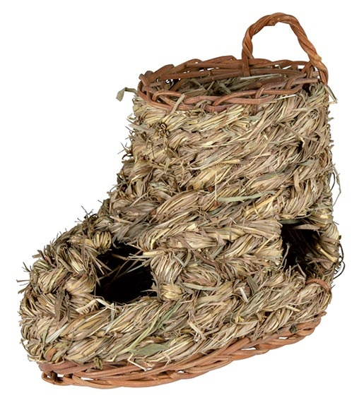 Tunel z trávy ve tvaru boty pro hlodavce Trixie 18*12cm