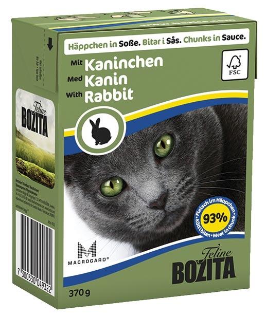 Bozita Feline BOZITA kousky v omáčce s králičím masem - Tetra Pak 370g