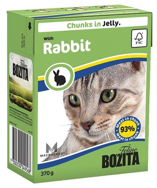 Bozita Feline BOZITA kousky v želé s králíkem - Tetra Pak 370g