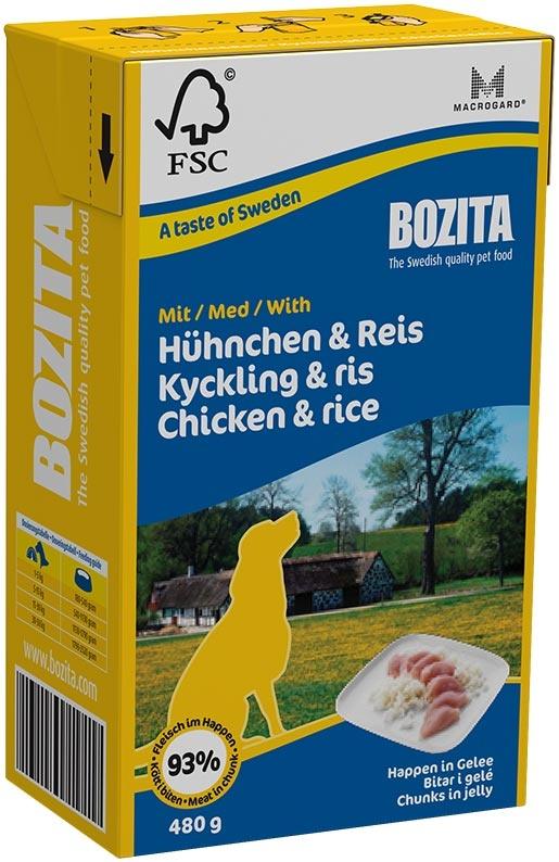 BOZITA kousky v želé s kuřetem a rýží - Tetra Pak 480g