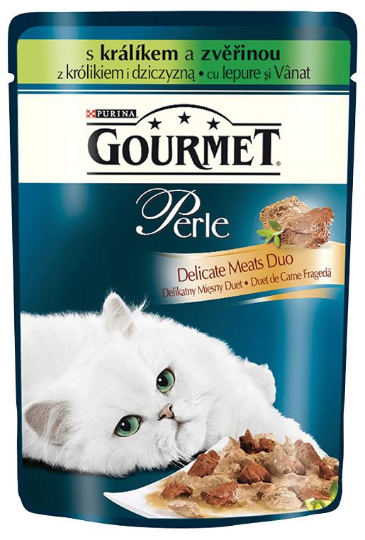 GOURMET Perle Duo kapsička králík a zvěřina 85g