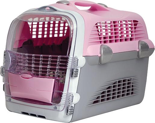 Přepravka CAT IT Design Cabrio růžovo - šedá