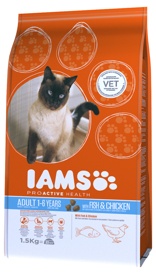 Iams Cat Adult Ocean Fish 1,5kg