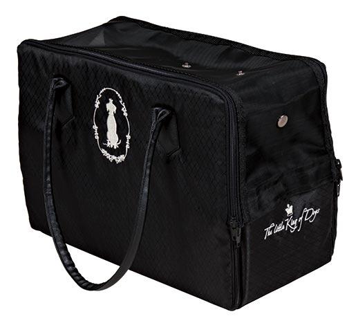 Taška přenosná pro psy Trixie Hundkönig černá 17*26*36cm