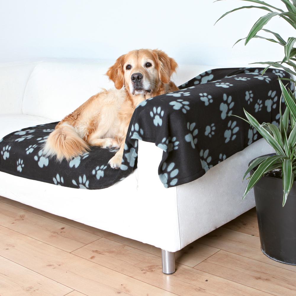Deka pro psy Trixie Barney černo- šedá 150*100cm