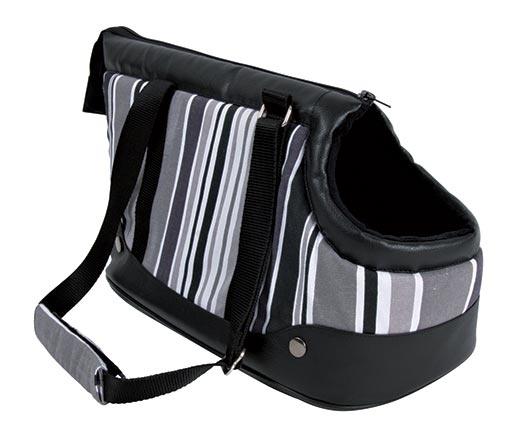 Taška přenosná pro psy Trixie Stormy 22*24*38cm černo-šedo-bílá