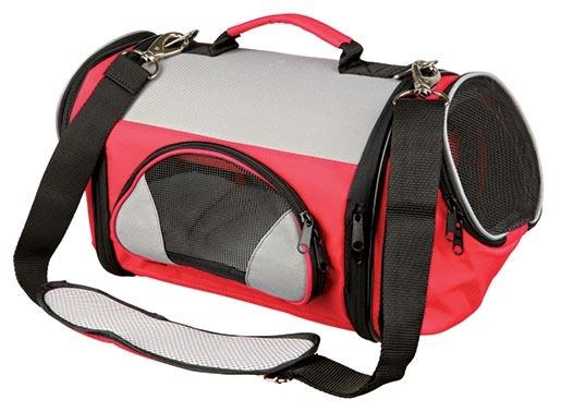 Taška přenosná pro psy Trixie Tamica 21*22*44cm červeno-šedá