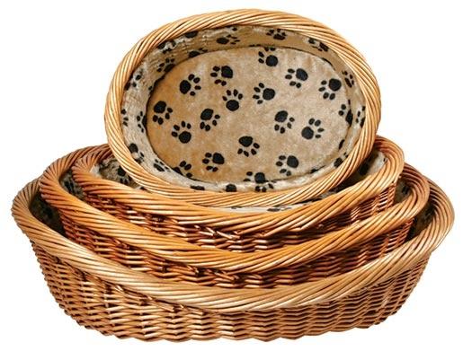 Proutěný pelíšek s polštářem pro psy Trixie 60cm