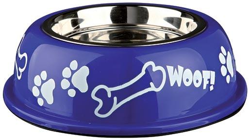 Miska nerezová pro psy Trixie v plastové obalu 0.9l*16cm