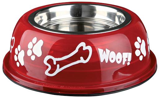 Miska nerezová pro psy Trixie v plastové obalu 0.45l*13cm
