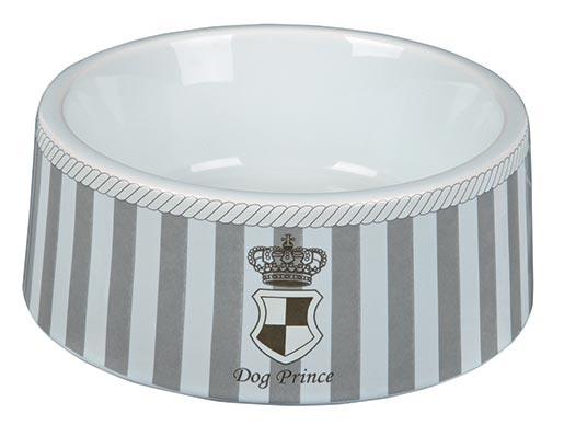 Miska keramická pro psy Trixie Dog Prince šedo-bílá 20cm*1000ml