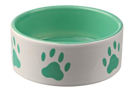 Miska keramická pro psy Trixie bílo-zelená 16cm*800ml