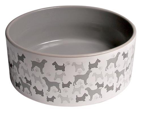 Miska keramická pro psy Trixie 250ml *11cm bílo-šedá