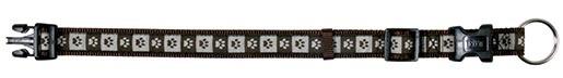 Obojek pro psy Trixie Modern Art Coffee krémovo-hnědý s potiskem packy 30 - 45cm