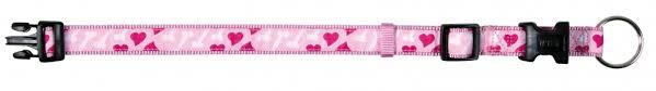 Obojek pro psy Trixie RoseHeart 30-45cm*15mm růžový