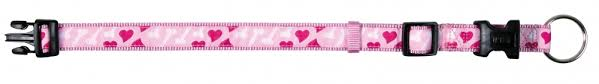 Obojek pro psy Trixie RoseHeart 22-35cm*15mm růžová