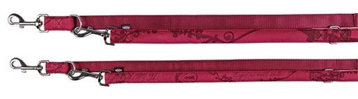 Vodítko pro psy Trixie Modern Art King of Dogs nastavitelné bordó XS-S 2m*15mm