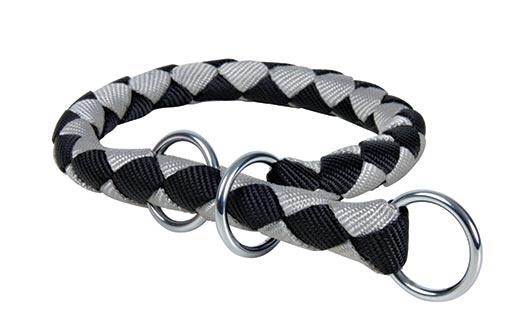 Obojek pro psy Cavo Trixie černá/stříbrná M-L 43cm