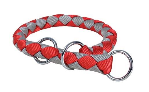 Obojek pro psy Cavo Trixie červená/stříbrná M-L 43cm