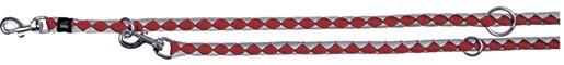 Vodítko pro psy Trixie Cavo nastavitelné červená/stříbrná S-M