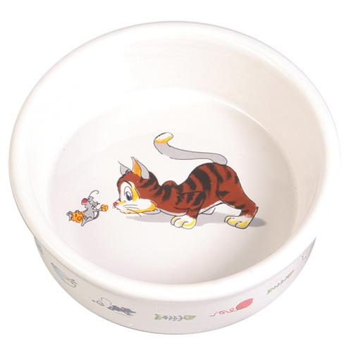 Miska keramická pro kočky Trixie 200ml *11cm bílá