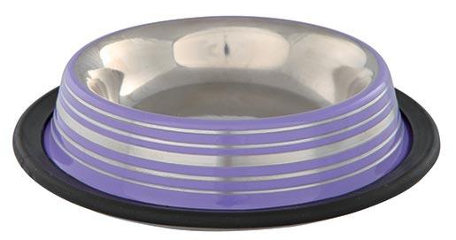 Miska nerezová s gumou pro kočky Trixie 0,2ml * 16cm, fialová