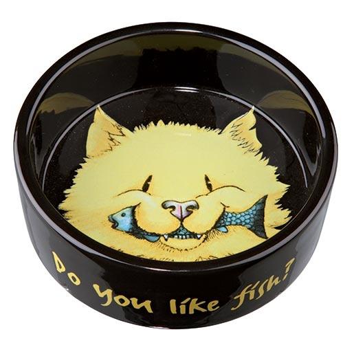 Miska keramická pro kočky Trixie 300ml * 12cm černá
