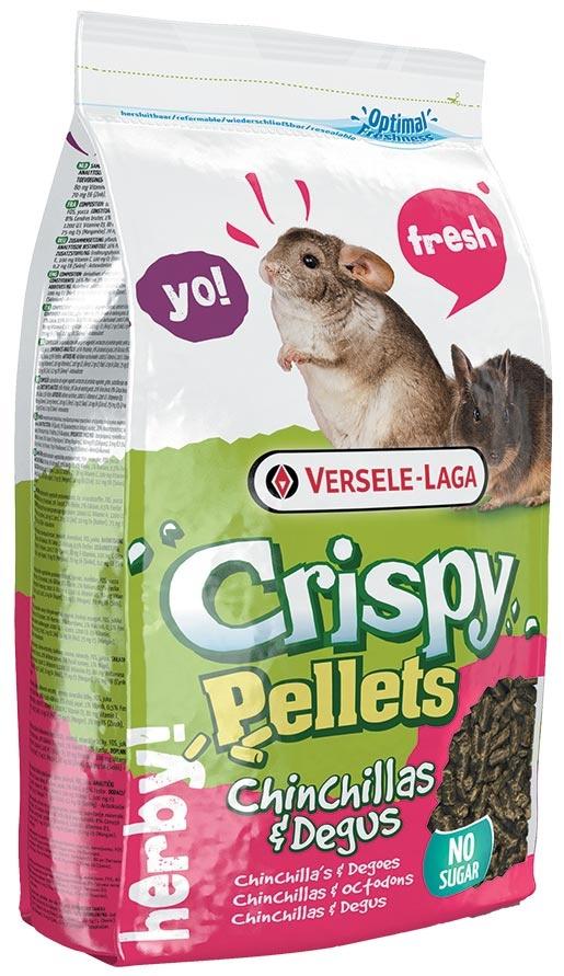 Krmivo VERSELE-LAGA Crispy pelety pro činčily a osmáky 1kg
