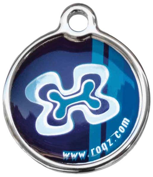 Známka ROGZ Metal Indigo Bones kovová L