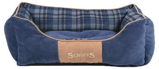 Pelíšek SCRUFFS Highland Box Bed modrý 50cm