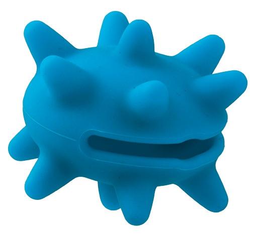 Hračka DOG FANTASY silikonový ježek na pamlsky světle modrý S