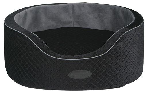 Pelíšek SCRUFFS Park Lane Oval Bed černo-šedý 60cm