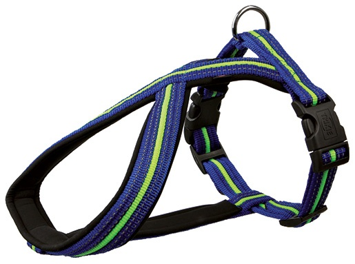 Postroj pro psy Trixie Fusion modro-zelený S-M 40cm