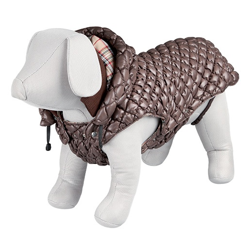 Vesta zimní pro psy Trixie Venezia M hnědá 45cm