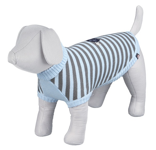 Svetr pro psy Trixie Dolomiti XXS modro-šedá 24cm