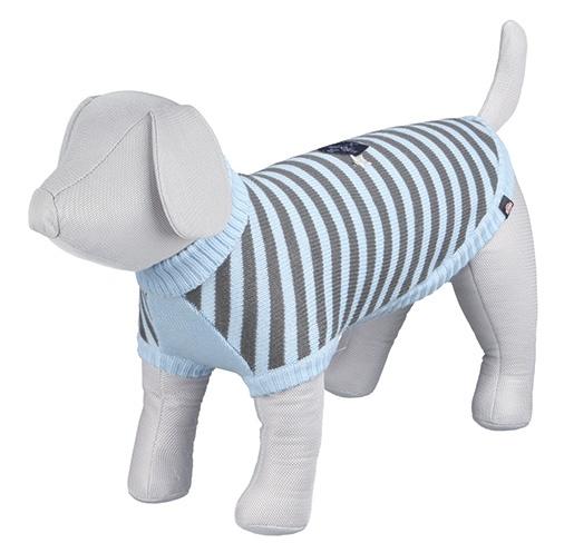 Svetr pro psy Trixie Dolomiti XS modro-šedá 30cm